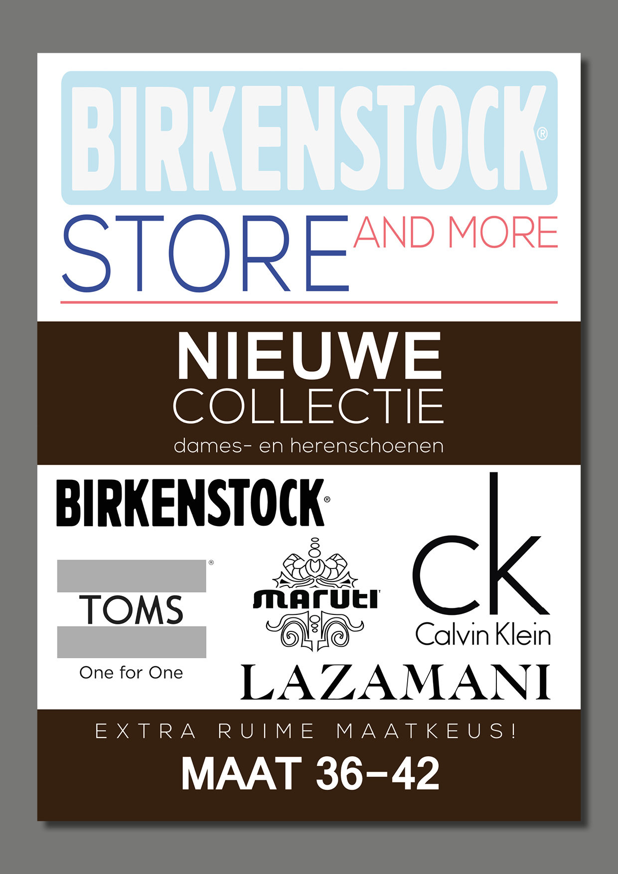 A1 Stoepbord poster - Birkenstockstore And More